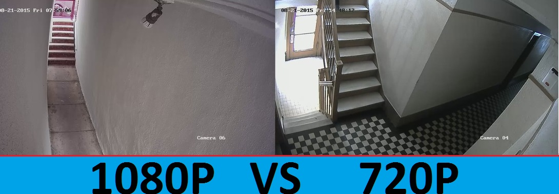 720p vs 1080p security camera systems
